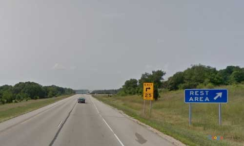 wi interstate 43 wisconsin i43 east troy rest area mile marker 32 southbound off ramp exit