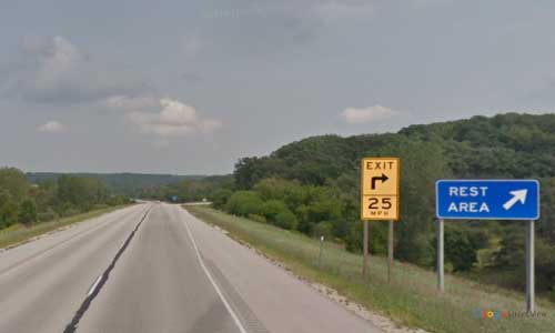 wi interstate 43 wisconsin i43 elkhorn rest area mile marker 31 northbound off ramp exit