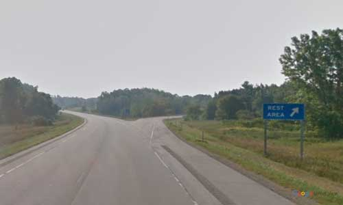 wi interstate 43 wisconsin i43 maribel rest area mile marker 168 southbound off ramp exit