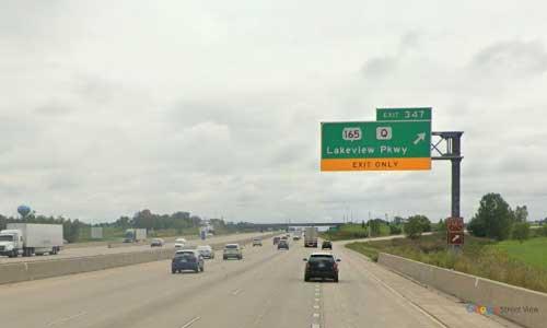 wi interstate 94 wisconsin i94 kenosha welcome center mile marker 347 eastbound off ramp exit