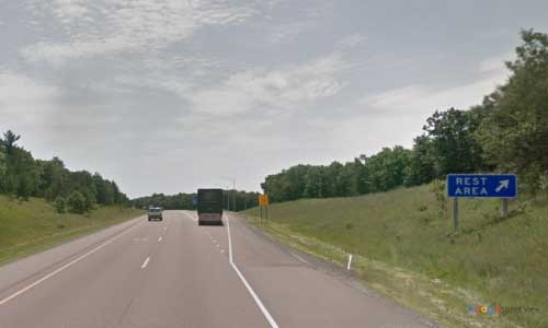 wi interstate 94 wisconsin i94 millston rest area mile marker 124 eastbound off ramp exit