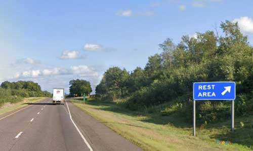 wi us route 53 wisconsin us53 new auburn rest area southbound mile marker 122 off ramp exit